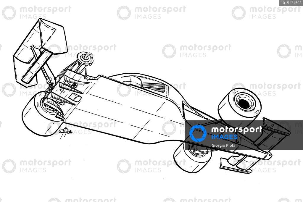 McLaren MP4-5B 1990 underside view