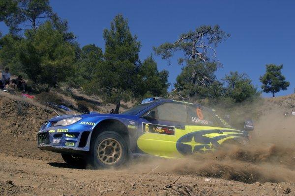 2006 FIA World Rally Champs. Round twelveCyprus Rally.21st - 24th September 2006.Chris Atkinson, Subaru, action.World Copyright: McKlein/LAT