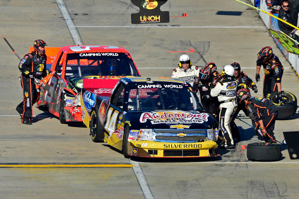 October 25-26, 2013, Martinsville, Virginia USA Kevin Harvick and Ty Dillon fight sequence. © 2013, Brian Czobat LAT Photo USA