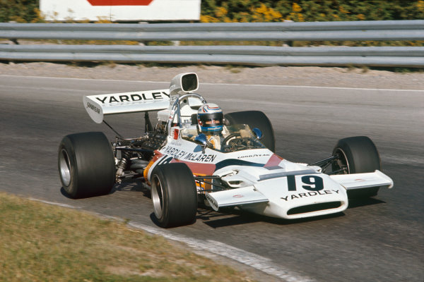 1972 Canadian Grand Prix.  Mosport, Canada. 22-24th September 1972.  Peter Revson, McLaren M19C Ford.  Ref: 72CAN41. World Copyright: LAT Photographic