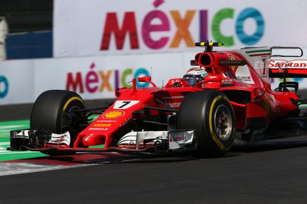 Autodromo Hermanos Rodriguez, Mexico City, Mexico. Friday 27 October 2017. Kimi Raikkonen, Ferrari SF70H. World Copyright: Charles Coates/LAT Images  ref: Digital Image AN7T8495