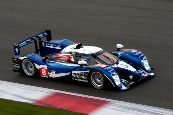 10th/11th&12th September 2011Silverstone, Northants.Sarrazin / Montagny (#8 Peugeot Sport Total Peugeot 908, LMP1). Action.Image Copyright Malcolm Griffiths/LATDigital Image _H0Y1958 jpg
