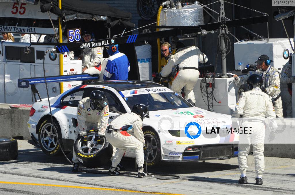16-18 September, 2011, Monterey, California USA#56 BMW Team RLL BMW E92 M3 pitstop.(c)2011,  Dan R. Boyd  LAT Photo USA