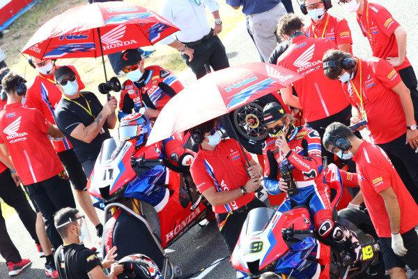 Leon Haslam, Team HRC, Alvaro Bautista, Team HRC.