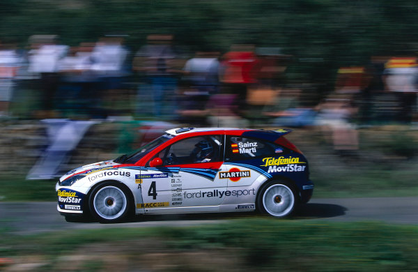 2002 World Rally ChampionshipRally Catalunya, Spain. 21st - 24th March 2002.Carlos Sainz/Loius Moya, Ford Focus WRC 02, retired.World Copyright: McKlein/LAT Photographic.ref: 35mm Image 02 WRC 01