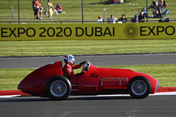 Marc Gene demonstrates a 1951 Ferrari 375, to commemorate the Jose Froilan Gonzalez victory at Silverstone, 70 years ago