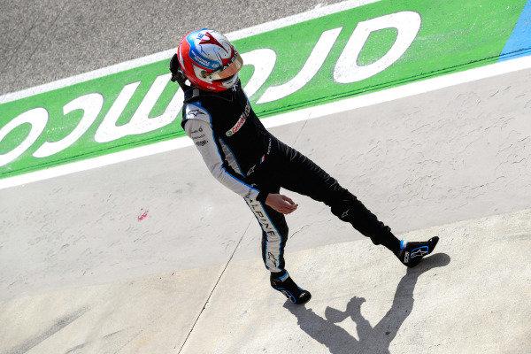 Esteban Ocon, Alpine F1, walks back to his garage