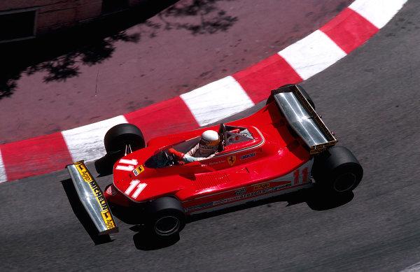 1979 Monaco Grand Prix. Monte Carlo, Monaco. 24-27 May 1979. Jody Scheckter (Ferrari 312T4) 1st position at Lower Mirabeau. Ref-79 MON 04. World Copyright - LAT Photographic