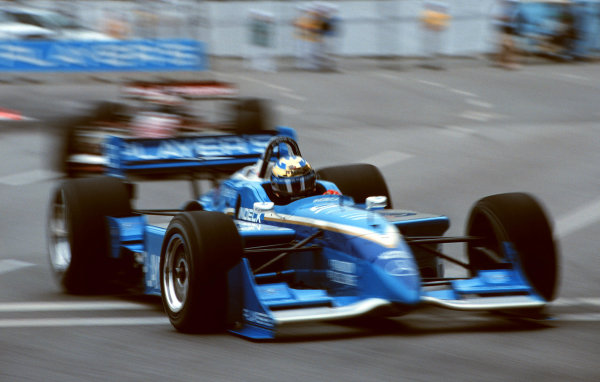 1999 Vancouver CART GP, Vancouver Canada, 3/9/99Greg Moore leads Scott Pruett-1999, Michael L. Levitt, USALAT PHOTOGRAPHIC