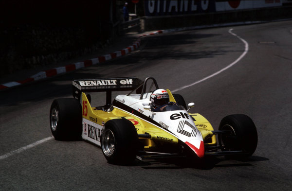 1982 Monaco Grand Prix.Monte Carlo, Monaco.20-23 May 1982.Alain Prost (Renault RE30B).World Copyright - LAT Photographic