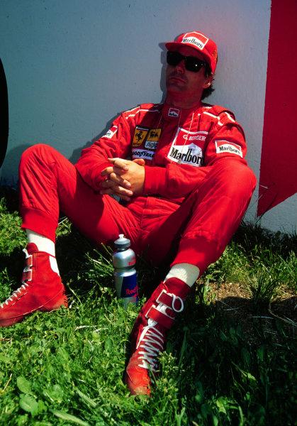 1995 Spanish Grand Prix.Catalunya, Barcelona, Spain.12-14 May 1995.Gerhard Berger (Ferrari) 3rd position.World Copyright - LAT Photographic
