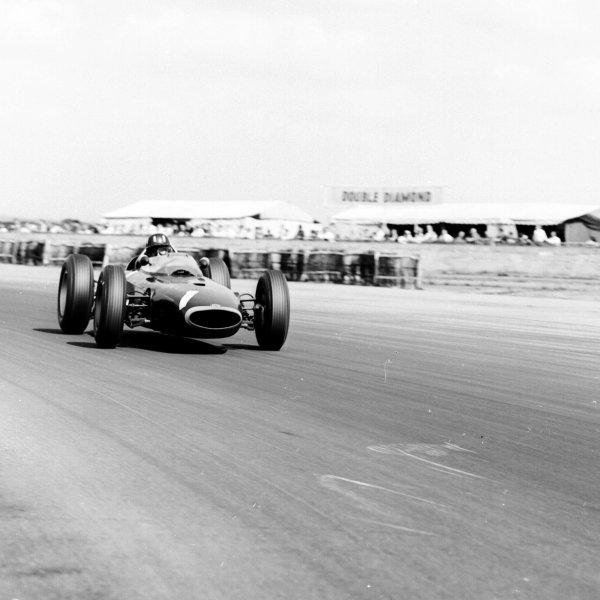 1963 British Grand Prix.Silverstone, England.18-20 July 1963.Graham Hill (BRM P57) 3rd position.Ref-20390.World Copyright - LAT Photographic