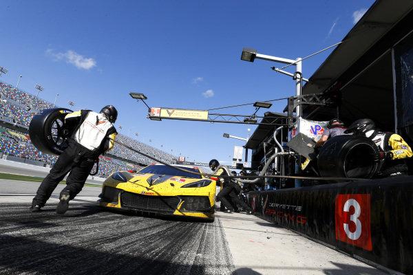 #3 Corvette Racing Corvette C8.R, GTLM: Pit Stop, Nicky Catsburg, Jordan Taylor, Antonio Garcia