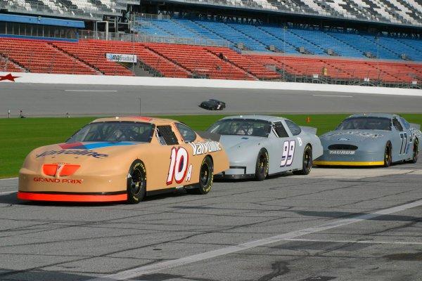 2003 NASCAR TestingDaytona, USA. 7th January 2003Pontiac, Chevrolet and Ford NASCAR's on display.World Copyright: Greg Aleck/ LAT Photographicref: Digital Image Only