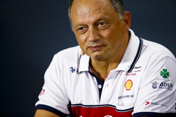 Frederic Vasseur, Team Principal, Alfa Romeo Racing, in the Team Principals' Press Conference