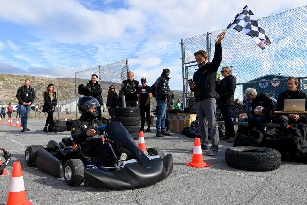 Sebastien Loeb (FRA), X44, at an e-karting event
