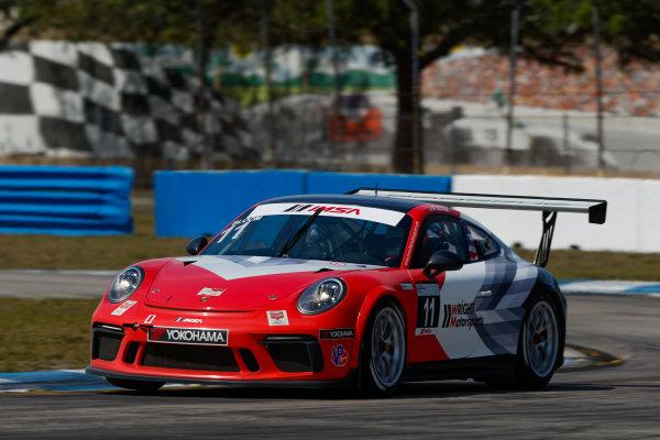 2017 Porsche GT3 Cup USA Sebring International Raceway, Sebring, FL USA Friday 17 March 2017 11, Phil Bloom, GT3P, USA, 2017 Porsche 991 World Copyright: Jake Galstad/LAT Images ref: Digital Image lat-galstad-SIR-0317-14853