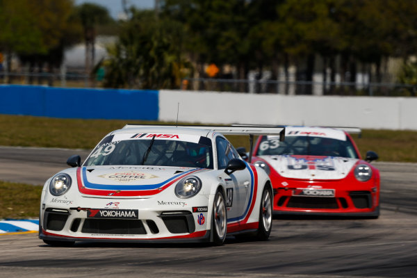 2017 Porsche GT3 Cup USA Sebring International Raceway, Sebring, FL USA Friday 17 March 2017 49, Sebastian Landy, GT3P, USA, 2017 Porsche 991 World Copyright: Jake Galstad/LAT Images ref: Digital Image lat-galstad-SIR-0317-14856