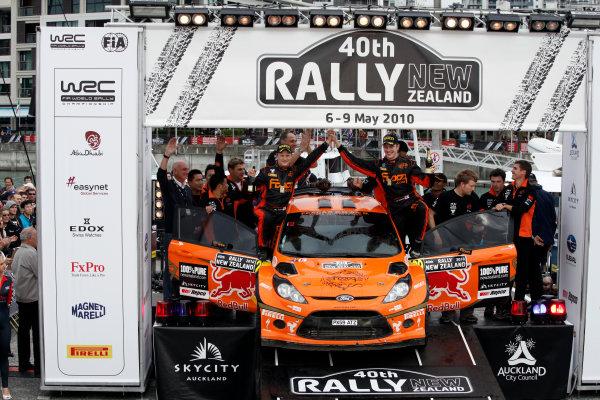 2010 FIA World Rally ChampionshipRound 05Rally New Zealand 7 - 9 May  2010Jari Ketomaa, Ford Fiesta S2000, podiumWorldwide Copyright: McKlein/LAT