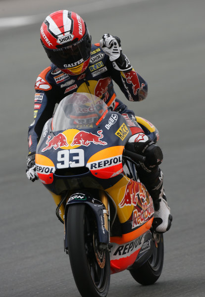 Germany Sachsenring 16-18 July 2010Marc Marquez Red Bull Ajo Derbi celebrates his victory