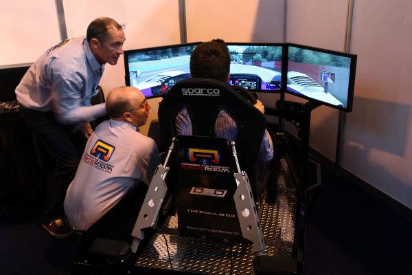 NEC, Birmingham. 15th January 2012.A Race Room Simulator is in action at the Autosport International Show.World Copyright:Daniel Kalisz/LAT Photographicref: Digital Image IMG_2498