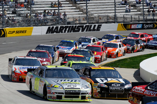 26-28 March, 2010, Martinsville, Virginia USADale Earnhardt Jr and Jeff Burton©2010 Lesley Ann Miller, USALAT Photographic