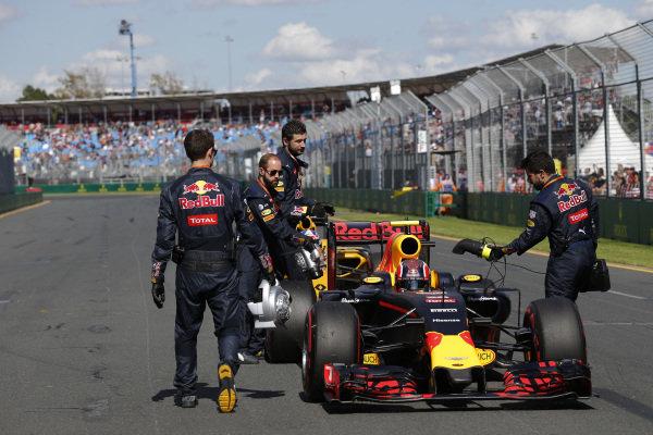 Daniil Kvyat (RUS) Red Bull Racing RB12 on the grid at Formula One World Championship, Rd1, Australian Grand Prix, Race, Albert Park, Melbourne, Australia, Sunday 20 March 2016.