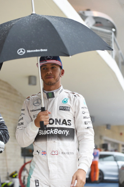 Lewis Hamilton (GBR) Mercedes AMG F1 at Formula One World Championship, Rd16, United States Grand Prix, Race, Austin, Texas, USA, Sunday 25 October 2015.