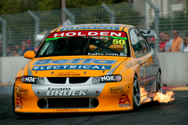 Clipsal 500 V8 Supercars Adelaide 22nd March 2003Holden driver Jason Bright driving a VX commadore sets the fastest time in the top 10 shoot out to take pole position for race 1 tomorrow.World Copyright: Mark Horsburgh/LAT Photographicref: Digital Image Only