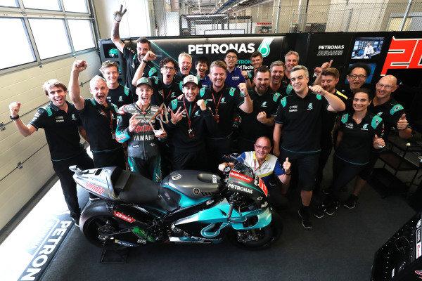 Third place Fabio Quartararo, Petronas Yamaha SRT celebrates with his team