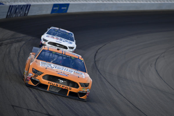 #32: Corey LaJoie, Go FAS Racing, Ford Mustang Schluter Systems, #38: David Ragan, Front Row Motorsports, Ford Mustang MDS Transport