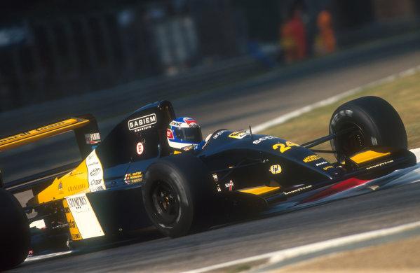 1991 Italian Grand Prix.Monza, Italy.6-8 September 1991.Gianni Morbidelli (Minardi M191 Ferrari) 9th position.Ref-91 ITA 19.World Copyright - LAT Photographic