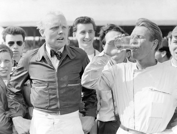 Mike Hawthorn and Peter Collins.
