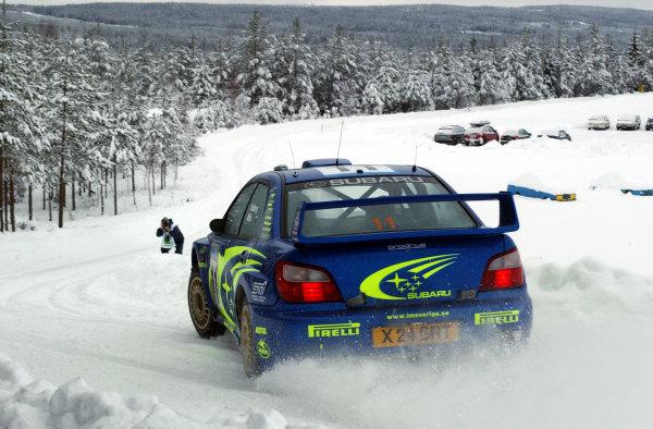 2002 World Rally ChampionshipUddeholm Swedish Rally, 1st-3rd February 2002.Petter Solberg on stage 3.Photo: Ralph Hardwick/LAT