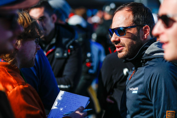 Gary Paffett (GBR), HWA Racelab, talks to the press