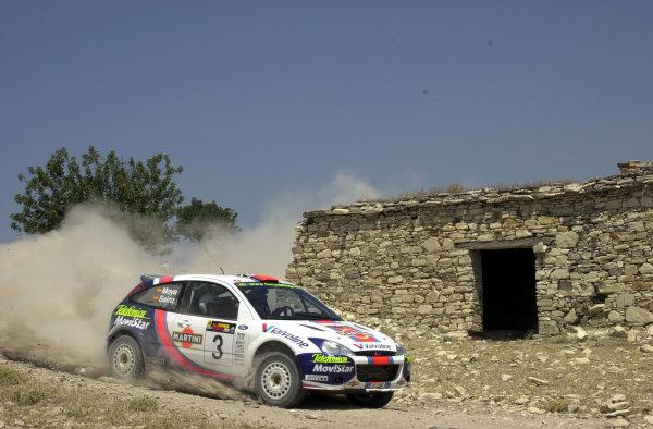 2001 World Rally ChampionshipCyprus Rally June 1-3, 2001Carlos Sainz on Stage 17.Photo: Ralph Hardwick/LAT