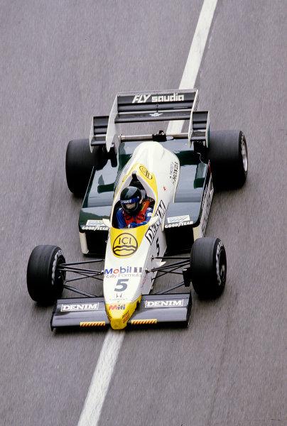 1984 Monaco Grand Prix.Monte Carlo, Monaco.31/5-3/6 1984.Jacques Laffite (Williams FW09 Honda) 8th position.Ref-84 MON 60.World Copyright - LAT Photographic