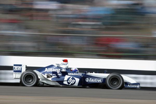 2004 British Grand Prix - Saturday Qualifying,Silverstone, Britain. 10th July 2004 Juan Pablo Montoya, BMW Williams FW26, action.World Copyright: Steve Etherington/LAT Photographic ref: Digital Image Only