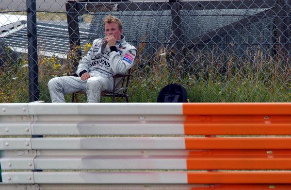 2003 European Grand Prix - RaceNurburgring, Germany. 29th June 2003Kimi Raikkonen, McLaren MercedesWorld Copyright - Thierry Gromik / LAT Photographicref: digital file only