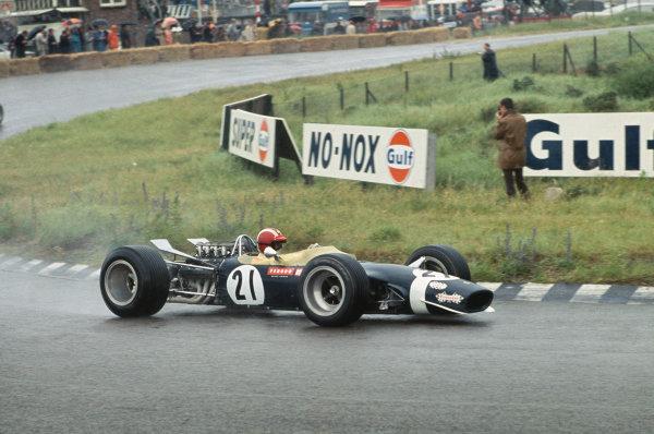 Zandvoort, Holland. 21-23 June 1968. .Jo Siffert (Walker-Durlacher Racing Lotus 49 Ford).  Ref: 68HOL14. World Copyright: LAT Photographic