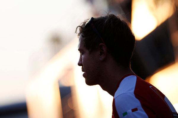 Hungaroring, Budapest, Hungary. Friday 24 July 2015. Sebastian Vettel, Ferrari. World Copyright: Charles Coates/LAT Photographic ref: Digital Image _N7T6310