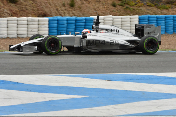 Kevin Magnussen (DEN) McLaren MP4-29. Formula One Testing, Jerez, Spain, Day Four, Friday 31 January 2014.
