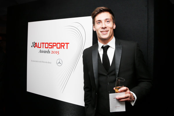 2015 Autosport Awards. Grosvenor House Hotel, Park Lane, London. Sunday 6 December 2015. Alex Lynn. World Copyright: Adam Warner/LAT Photographic. ref: Digital Image _L5R8988