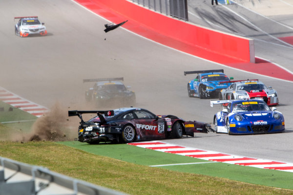 4-6 March, 2016, Austin, Texas USA #31 Patrick Long Crash ?2016, Brian Cleary LAT Photo USA