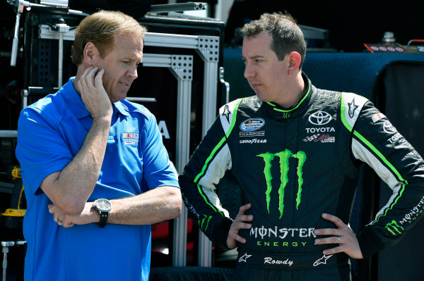 24-25 April, 2014, Richmond, Virginia USA Kyle Busch, Monster Energy Toyota Camry and Rusty Wallace © 2014, Nigel Kinrade LAT Photo USA