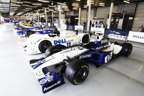 Williams 40 Event Silverstone, Northants, UK Friday 2 June 2017. A Juan Pablo Montoya Williams BMW, 1999 Le Mans V12 LMR and classic F1 machinery. World Copyright: Sam Bloxham/LAT Images ref: Digital Image _W6I6689