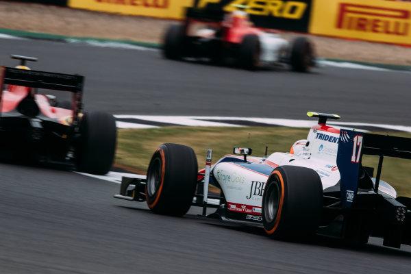2017 FIA Formula 2 Round 6. Silverstone, Northamptonshire, UK. Sunday 16 July 2017. Callum Ilott (GBR, Trident).  Photo: Malcolm Griffiths/FIA Formula 2. ref: Digital Image MALC7683