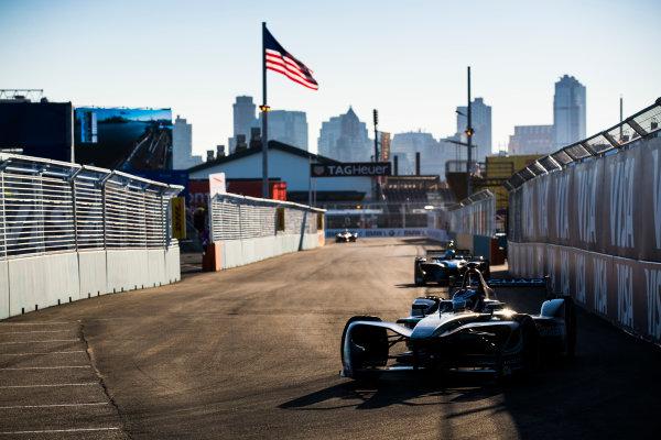 2016/2017 FIA Formula E Championship. Round 10 - New York City ePrix, Brooklyn, New York, USA. Sunday 16 July 2017. Adam Carroll (GBR), Jaguar Racing, Spark-Jaguar, Jaguar I-Type 1. Photo: Sam Bloxham/LAT/Formula E ref: Digital Image _J6I4158