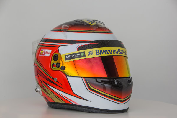 Sauber C34 Reveal. Hinwil, Switzerland. Thursday 29 January 2015. Helmet of Raffaele Marciello. Photo: Sauber F1 Team (Copyright Free FOR EDITORIAL USE ONLY) ref: Digital Image Sauber_2015_Helmet_35