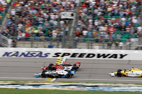 30 April - 1 May, 2010, Kansas City, Kansas, USAMario Romancini races with Ryan Hunter-Reay and Jay Howard.©2010 Phillip Abbott, USALAT Photographic